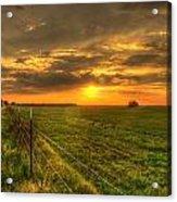 Country Roads Sunset Acrylic Print