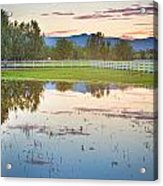 Country Sunset Reflections Acrylic Print