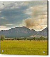 Country View Of The Flagstaff Fire Acrylic Print