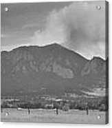 Country View Of The Flagstaff Fire Panorama Bw Acrylic Print