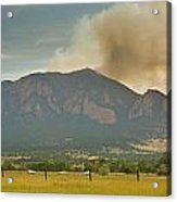 Country View Of The Flagstaff Fire Panorama Acrylic Print