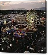 County Fair, Yakima Valley, Rides Acrylic Print by Sisse Brimberg