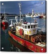 County Waterford, Ireland Fishing Boats Acrylic Print