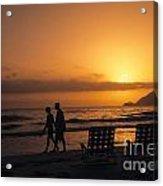 Couple At Beach Acrylic Print