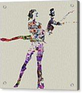 Couple Dancing Acrylic Print by Naxart Studio