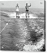 Couple Water Skiing Acrylic Print