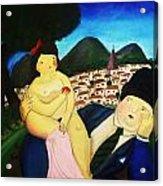 Couple's Picnic Acrylic Print by Vickie Meza