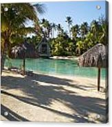 Couples Retreat In Bora Bora Acrylic Print