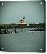 Couquille River Lighthouse  Acrylic Print