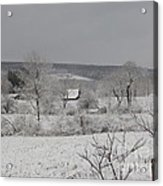 Courrier And Ives Winter Acrylic Print