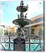 Court Square Fountain Acrylic Print