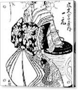 Courtesan Ichimoto Of Daimonji Ya Litho Acrylic Print