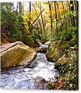 Courthouse River In The Fall 2 Acrylic Print