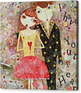 Courting Couple Acrylic Print