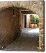 Courtyard In The Village Acrylic Print