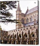 Courtyard Salisbury Cathedral - England Acrylic Print