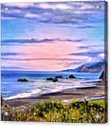 Cove On The Lost Coast Acrylic Print