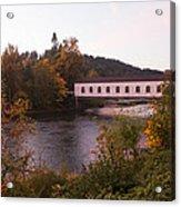 Covered Bridge At Dawn No. 1 Acrylic Print