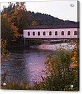 Covered Bridge At Dawn No. 2 Acrylic Print