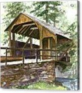 Covered Bridge At Knoebels  Acrylic Print