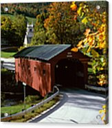 Covered Bridge In Vermont Acrylic Print