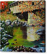 Covered Bridge Acrylic Print by Suni Roveto