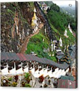 Covered Stairway To The Pindaya Caves Acrylic Print