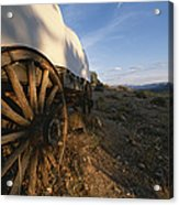 Covered Wagon At Bar 10 Ranch Acrylic Print by Todd Gipstein