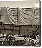 Covered Wagon Sepia Acrylic Print
