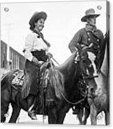 Cowboy And Cowgirl, C1908 Acrylic Print