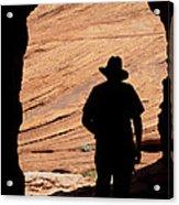 Cowboy Caveman Acrylic Print