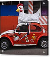 Cowboy Chicken Acrylic Print