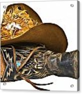Cowboy Hat And Boot Acrylic Print