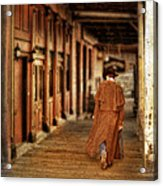 Cowboy In Old West Town Acrylic Print