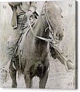 Cowboy Robber, C1900 Acrylic Print