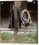 Cowboy With Guns And Rope Acrylic Print