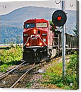 Cp Coal Train And Signal Acrylic Print