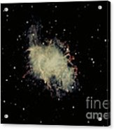 Crab Nebula Acrylic Print by Hale Observatories