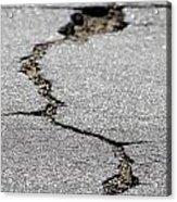 Crack In The Street Acrylic Print