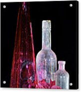 Cranberry And White Bottles Acrylic Print