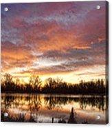 Crane Hollow Sunrise Reflections Acrylic Print