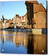 Crane In The Old Town Of Gdansk Acrylic Print