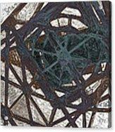 Crane In The Port Acrylic Print