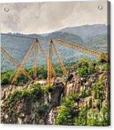 Crane On The Mountain Acrylic Print