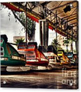 Crash Cars Acrylic Print by Gabriel Calahorra