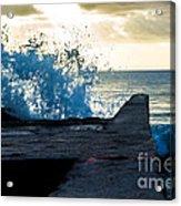 Crashing Blue Acrylic Print
