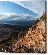 Crater Lake Mountains Acrylic Print