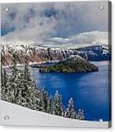 Crater Lake Panorama 1 Acrylic Print