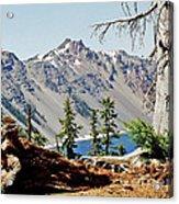 Crater Lake Through Nature Acrylic Print