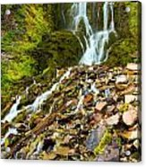 Crater Lake Waterfall Acrylic Print